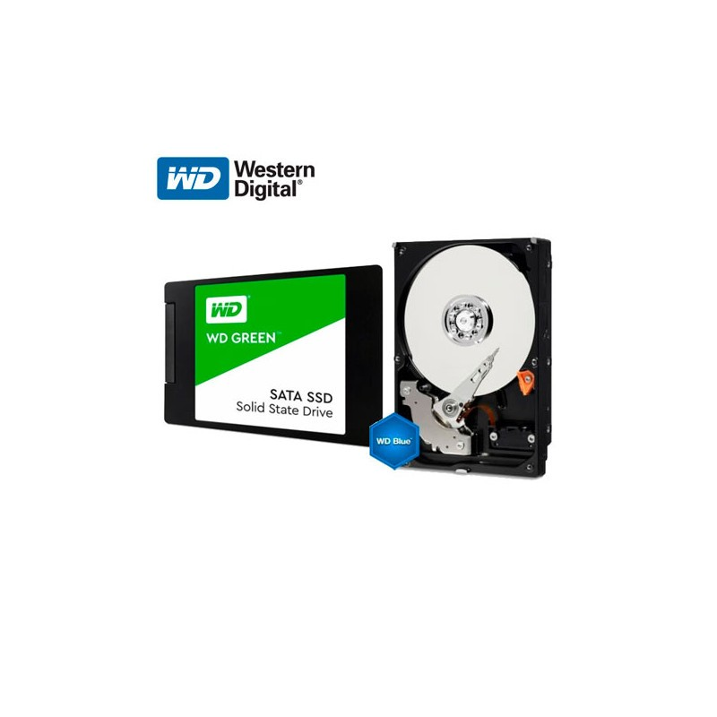 SD WD Green 120GB SATA + HDD WD Blue 1TB