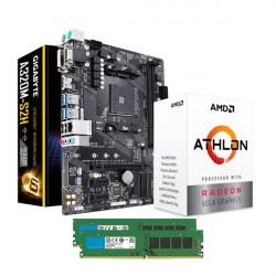 ATHLON 200GE - Gigabyte GA-A320M-S2H - DDR4 2X4GB