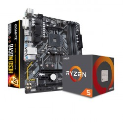 COMBO AMD RYZEN 5 2600 - MOTHER GIGABYTE B450M DS3H