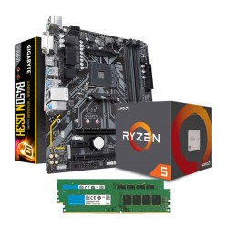 Combo AMD RYZEN 5 2600 - Mother Gigabyte B450M - 8GB DDR4