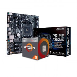 COMBO AMD RYZEN 3 2200G - MOTHER ASUS PRIME A320M-K