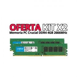 Memorias CRUCIAL DDR4 4GB 2666MHz (X2)