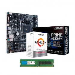AMD ATHLON 200GE - Mother A320M - DDR4 4GB
