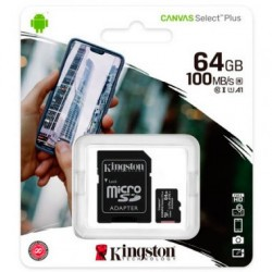Kingston microSDXC 64GB Canvas Select Plus