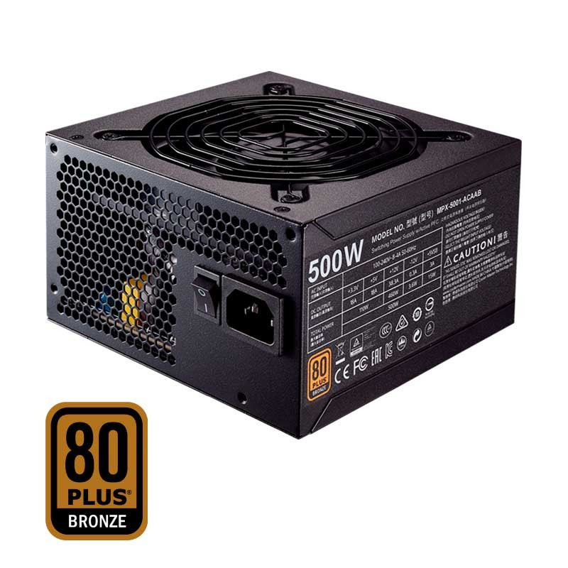 Cooler Master - MWE 500W - 80 Plus Bronze