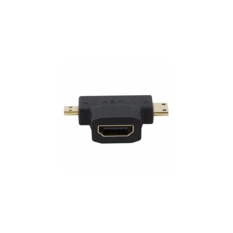 Micro y Mini HDMI macho a HDMI hembra
