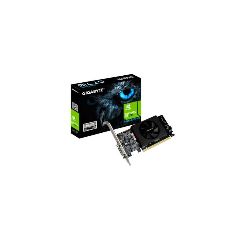Placa de video Gigabyte GeForce GT 710 DDR5 2GB