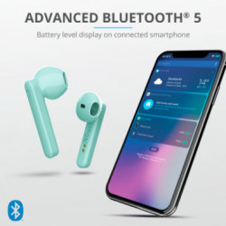 Auriculares Bluetooth Primo Touch Turquesa