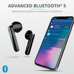 Auriculares Bluetooth Primo Touch Negro