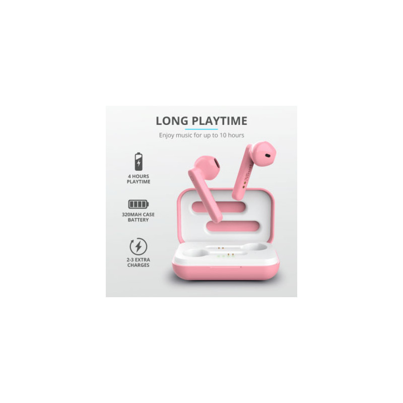 Auriculares Bluetooth Primo Touch Rosa