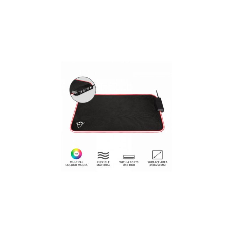 Mouse Pad GXT765 Glide-Flex RGB y 4 puertos USB