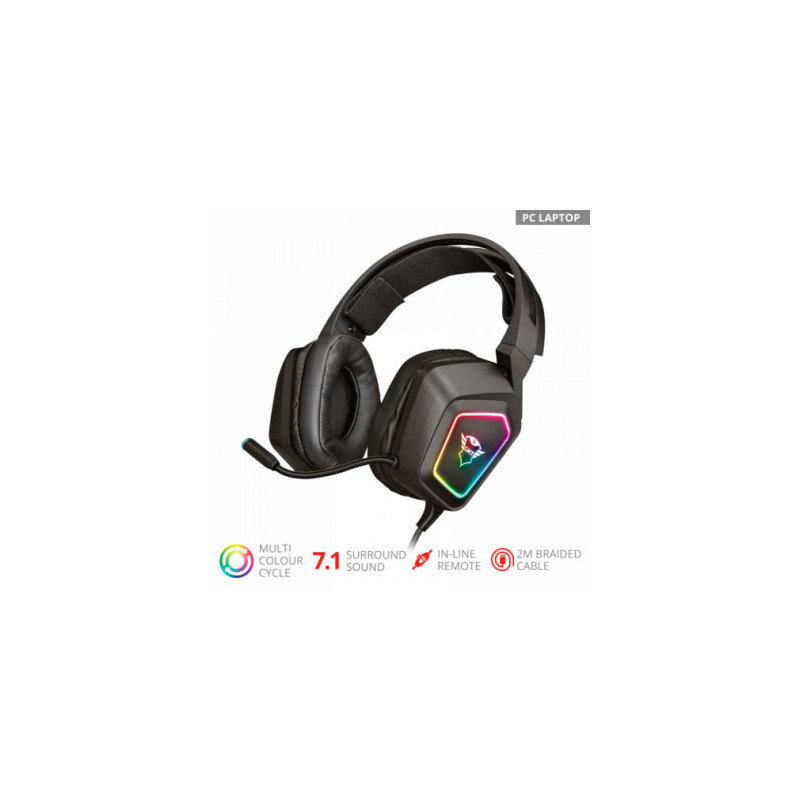 Auriculares Gaming Trust GXT450 Blizz 7.1 RGB