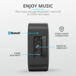 Parlante Bluetooth Trust Zowy Negro