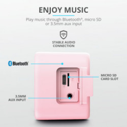 Parlante Bluetooth Trust Zowy Max Stylish Rosa