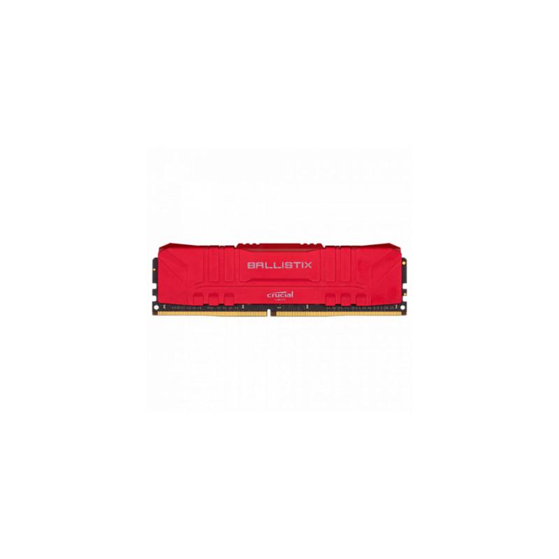 Memoria PC DDR4 Crucial Ballistik 8GB 3000MHz CL15 - Red