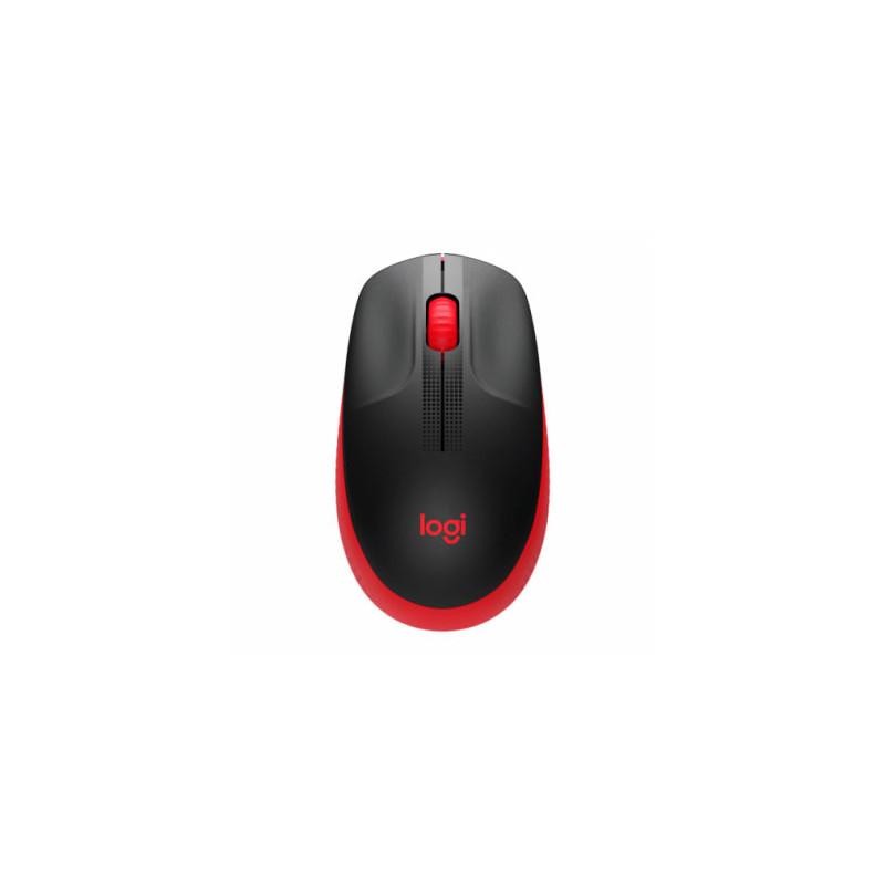 Mouse inalámbrico Logitech M190 Rojo
