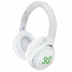 Auriculares con mic ,22 hs auto, Bluetooth, Blanco