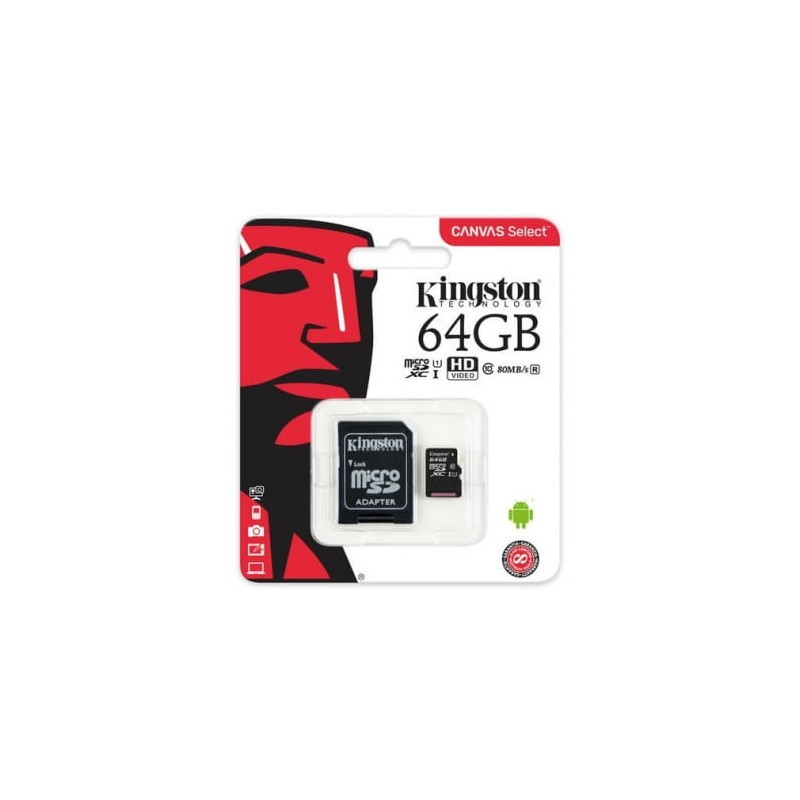 Kingston microSDHC 64GB Canvas packaging