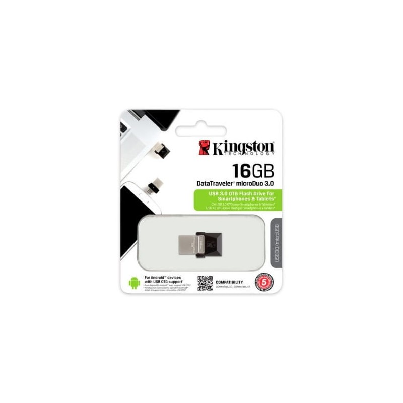 Kingston DT MicroDuo 16GB Negro packaging