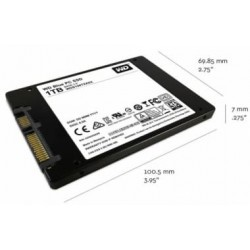 "WD SSD 500GB Blue 2.5"" BACK"